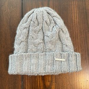 Michael Kors Cable Knit Gray Beanie Hat